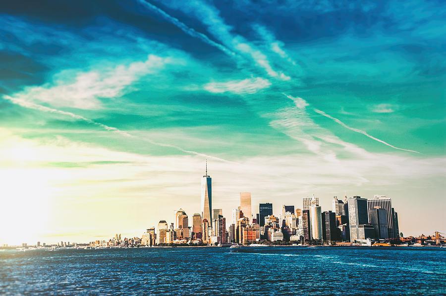 Nyc Photograph - New York City Skyline 5 by Vivienne Gucwa