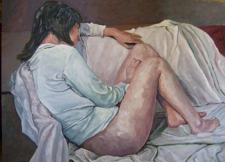 Nude Painting - Nude by Patrick Dalli