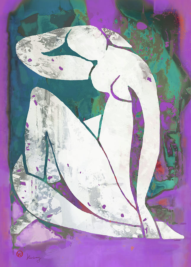 Nude Mixed Media - Nude Pop Art Poster by Kim Wang