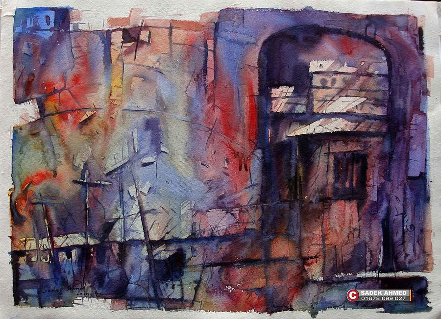 Old Dhaka Painting - old Dhaka by Sadek Ahmed