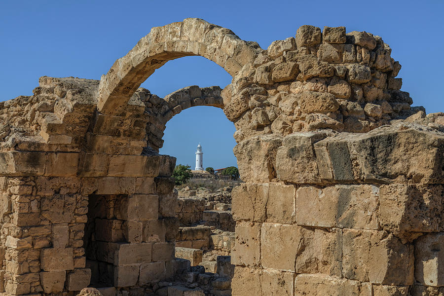 Excavations Photograph - Paphos Archaeological Park - Cyprus by Joana Kruse
