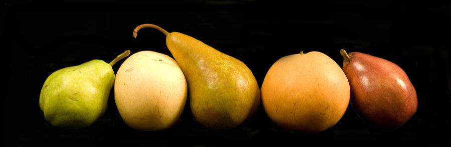 Fruit Photograph - 5 Pears by Cabral Stock