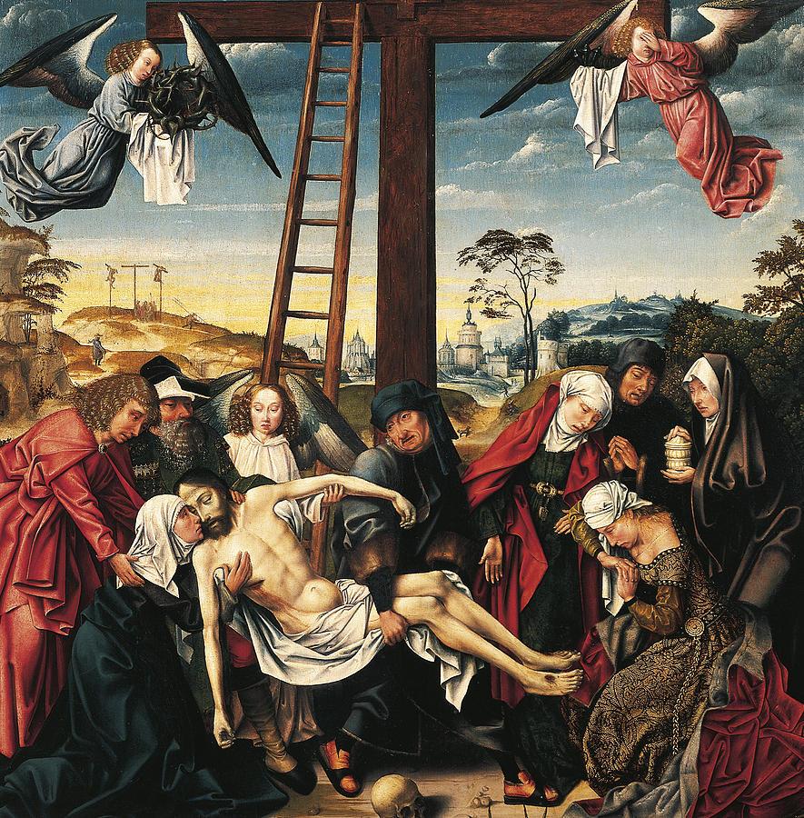 Pieta Painting - Pieta by Rogier van der Weyden