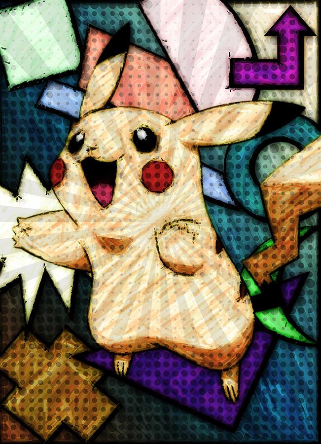 Digital Digital Art - Pokemon - Pikachu by Kyle West