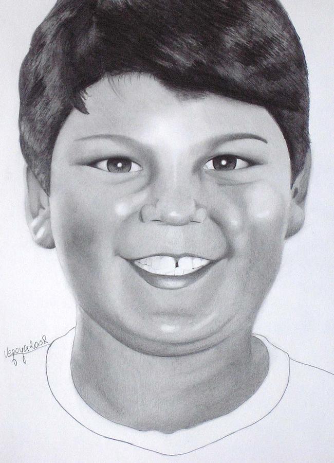 Kid Drawing - Portrait by Fabio Segatori