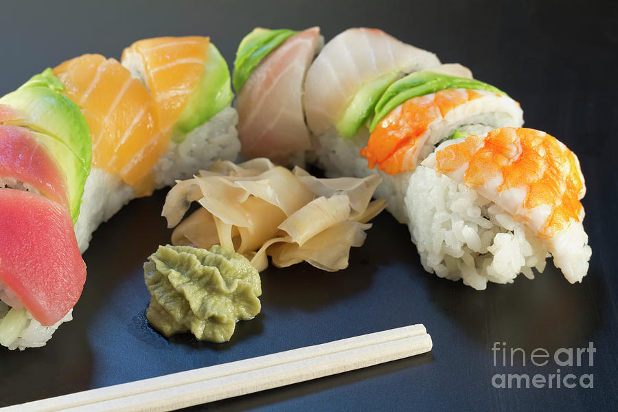 Rainbow Sushi Photograph By Ezume Images