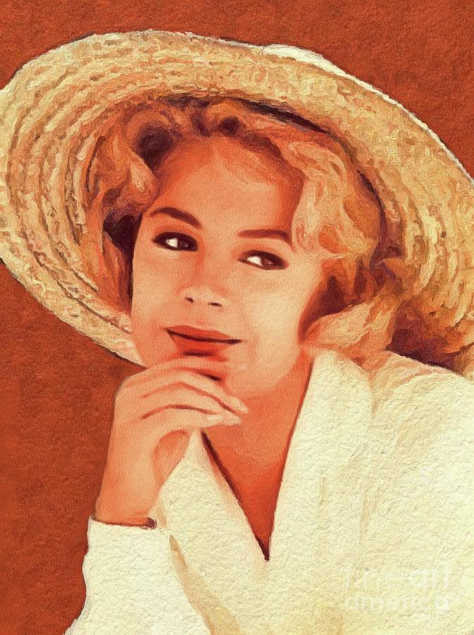 Sandra Painting - Sandra Dee, Vintage Actress by John Springfield