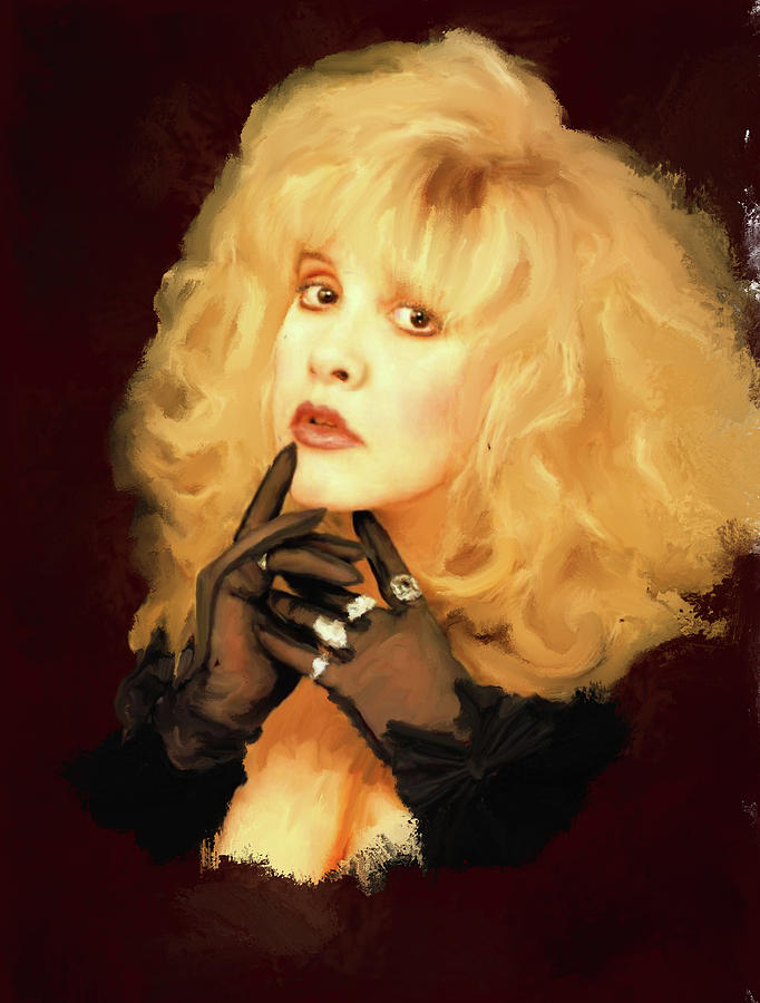 Music Icon Painting - Stevie Nicks by Brian Tones