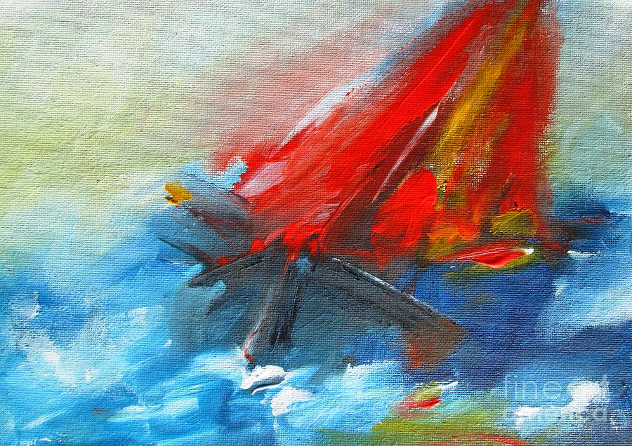 Sails Painting - Striking Wall Art Prints On Stretched Canvas, Www.pixi-art.com,delivered, Printed From Original Art by Mary Cahalan Lee- aka PIXI