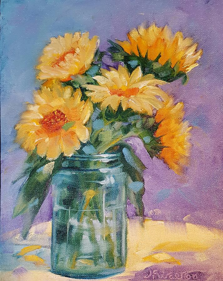 5 Sunflowers by Judy Fischer Walton