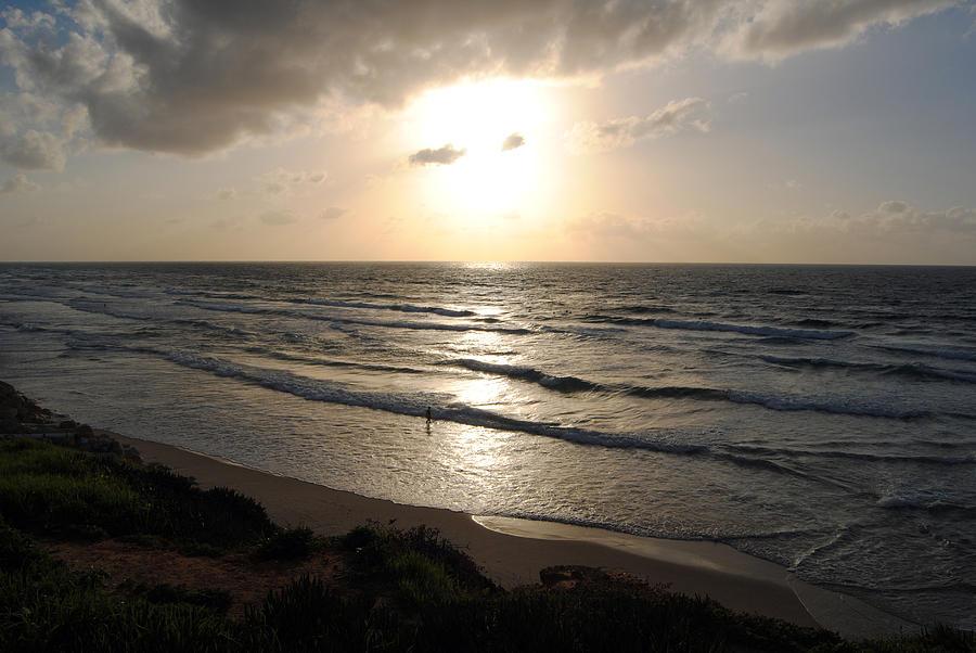Beach Photograph - Sunset At Jaffa Beach 12 by Isam Awad