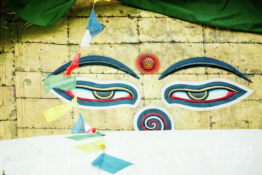 Tibet Photograph - Swayambhunath Stupa In Nepal by Raimond Klavins