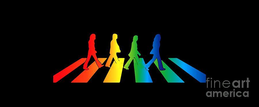 The Beatles Digital Art - The Beatles by Jofi Trazia