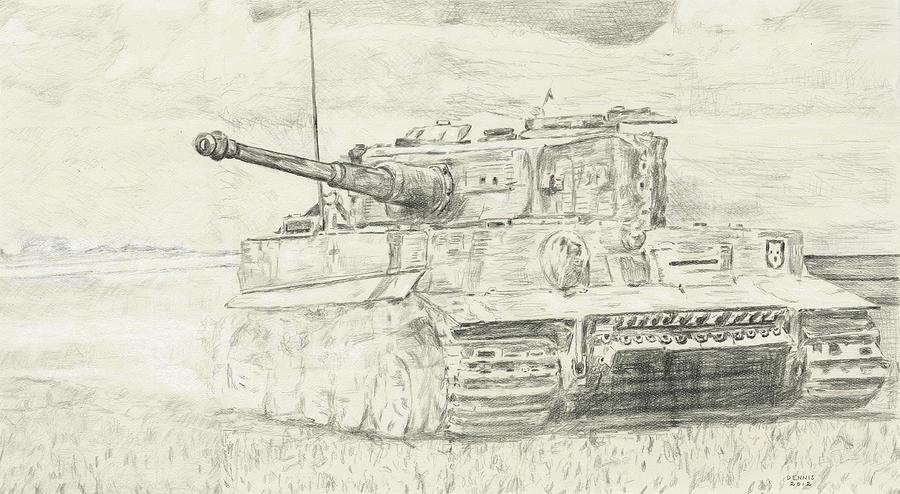 картинки танк тигр карандашом как видите, изначально