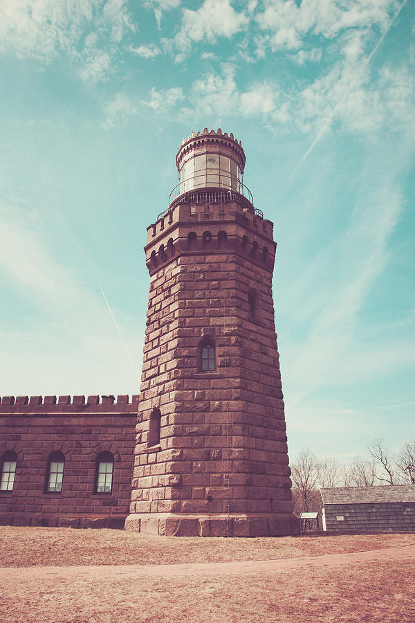 Architecture Photograph - Twin Lights Lighthouse Atlantic Highlands New Jersey by Erin Cadigan