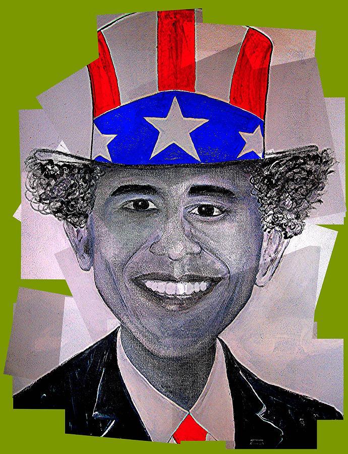 Barack Obama Painting - Uncle Bam by Teodoro De La Santa