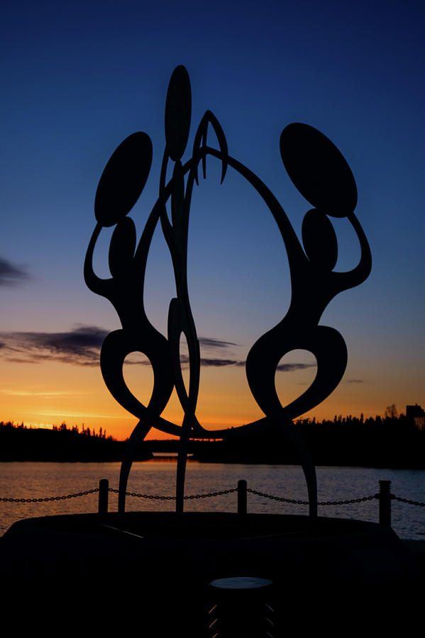 United in Celebration Sculpture at sunset 1 by John McArthur