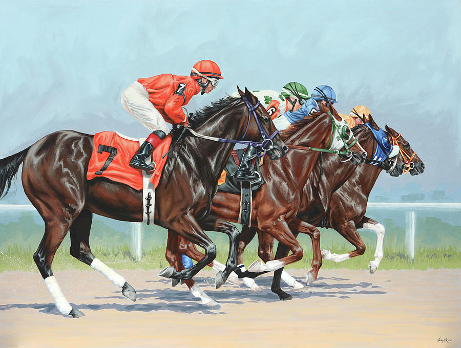 Horse Painting - Untitled  5 by Lesley Alexander
