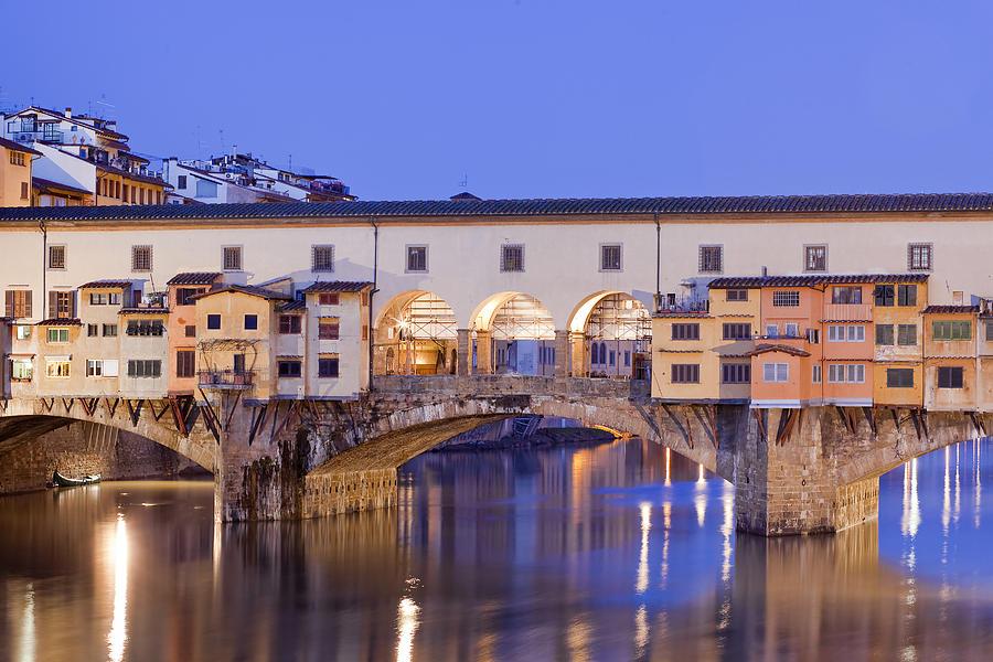 Ancient Photograph - Vecchio Bridge by Andre Goncalves
