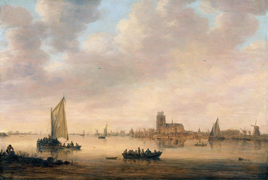 Jan Van Goyen Painting - View Of Dordrecht From The Dordtse Kil by Jan van Goyen
