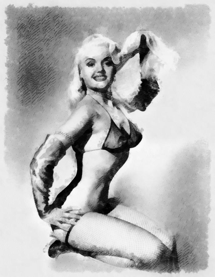 Pinup Painting - Vintage Pinup by Esoterica Art Agency