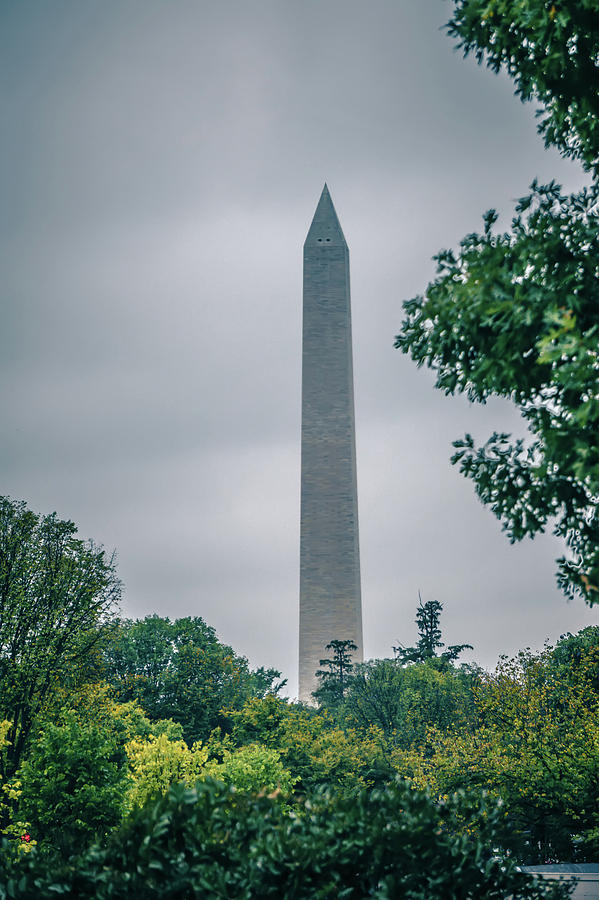 Monument Photograph - Washington Mall Monumet On A Cloudy Day by Alex Grichenko
