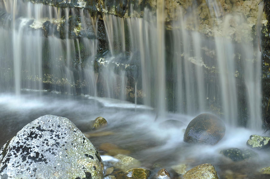 Waterfall Photograph - Waterfall Detail by Stephen  Vecchiotti