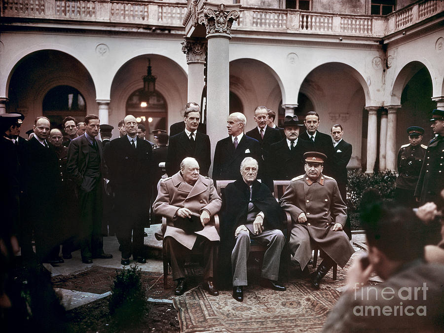 1945 Photograph - Yalta Conference, 1945 by Granger