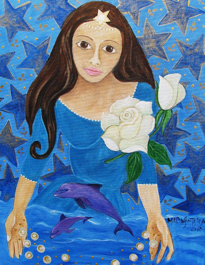 Yemanja 5 Painting by Maria Matheus Maria Santeira