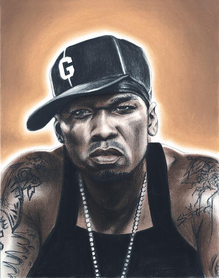 50 Cent Drawing - 50 Cent by Shea Rutherford