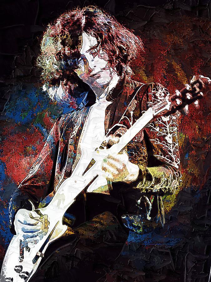 Jimmy Page Led Zeppelin Digital Art By Lilia Kosvintseva