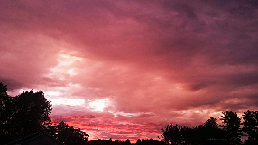 Sunset Photograph - 50 Shades Of Purple by Kathy Barney