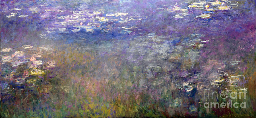 Claude Painting - Water Lilies by Claude Monet