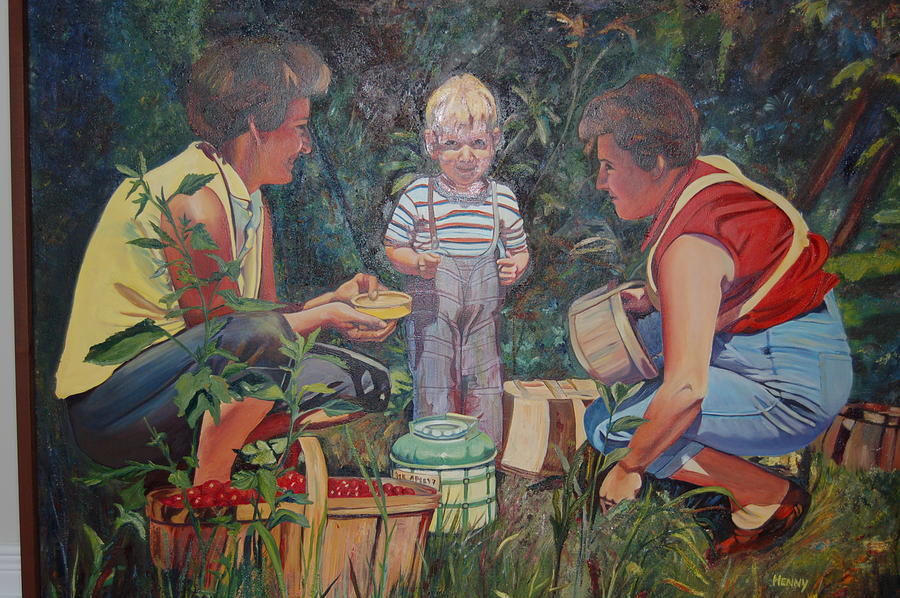 Family Portrait Painting - 50 Years In Harvest by Henny Dagenais