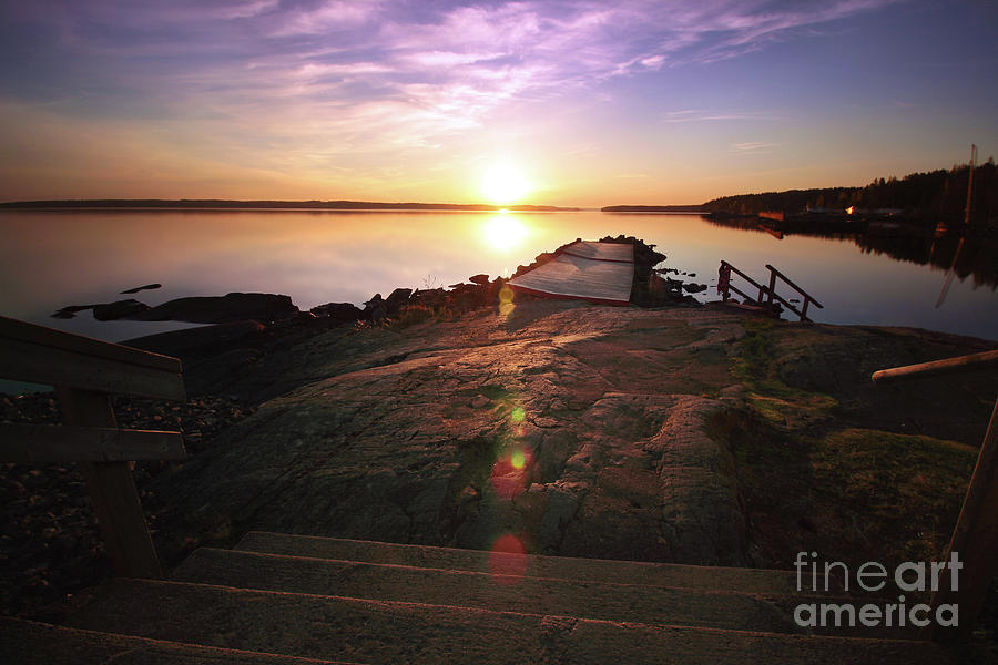 Sunset Photograph - 5.00 A.m. Rauhaniemi by Tapio Koivula