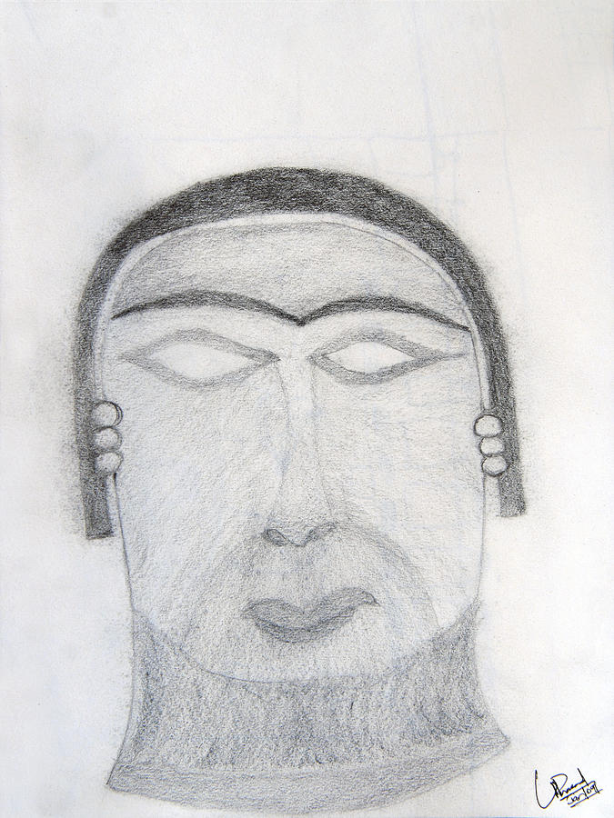 Pencil Drawing Painting - 5000 Bc Potrait by Prasad Setty
