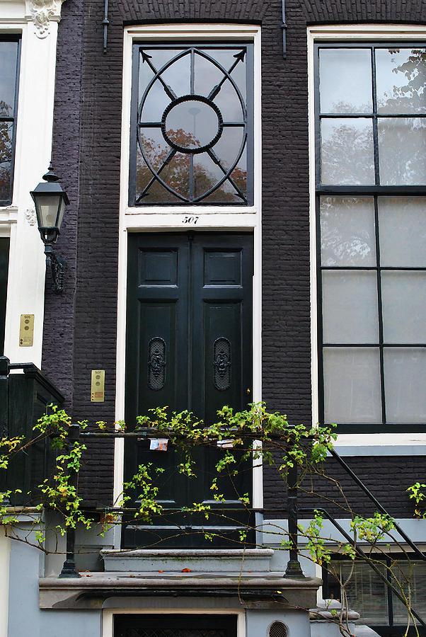 Amsterdam Photograph - 507 Doors Of Amsterdam Green by Jost Houk