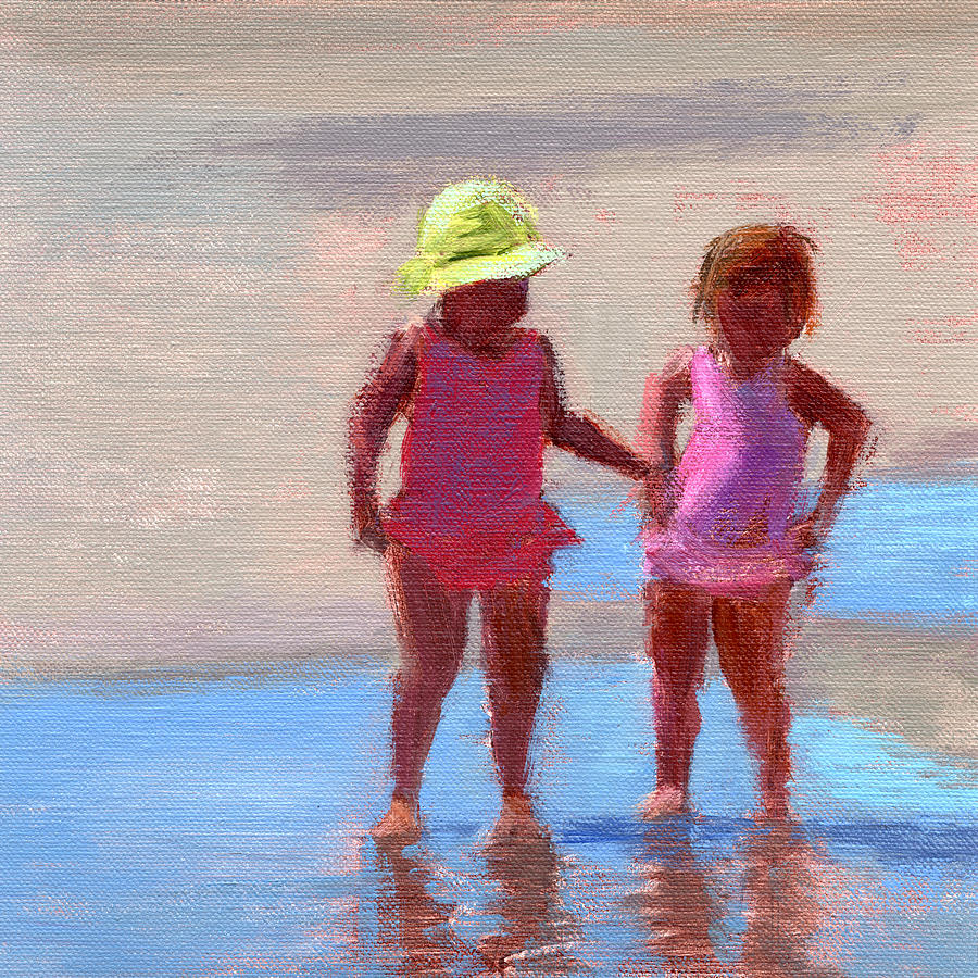 Beach Painting - Rcnpaintings.com  by Chris N Rohrbach