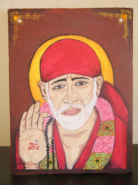 Shri Sai Baba Painting by Shikha Aggarwal