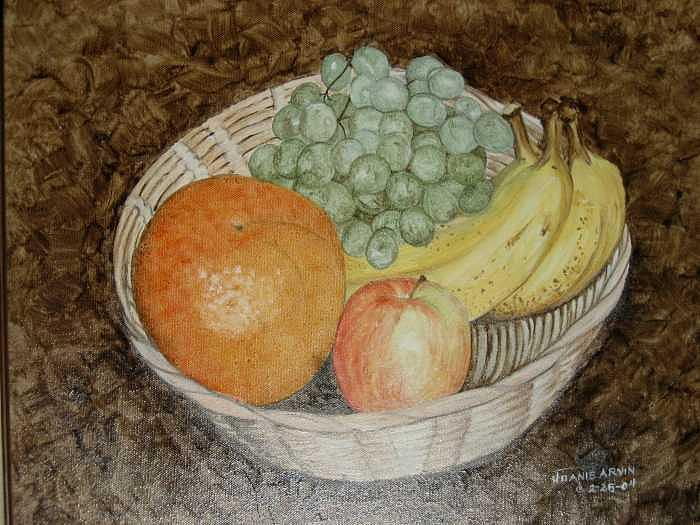 Fruit Bowl Painting by Joanie Arvin