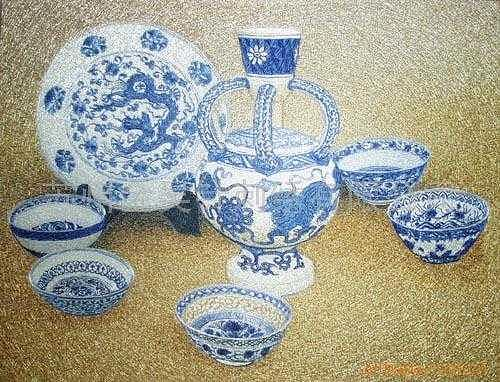 Handmade Silk Embroidery Tapestry - Textile - A Set Of China by Xiaohuan Sheng