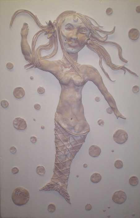Reliefs Relief - Dimpled Mermaid by Christine Ward