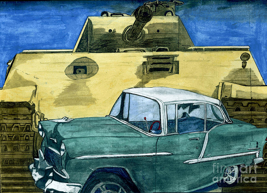 55 Chevy Painting - 55 by Timothy Winiarski