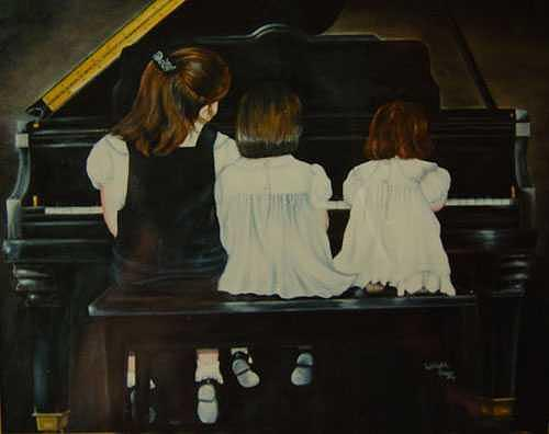 Portraits Painting - Sisters by Lizbeth Gage