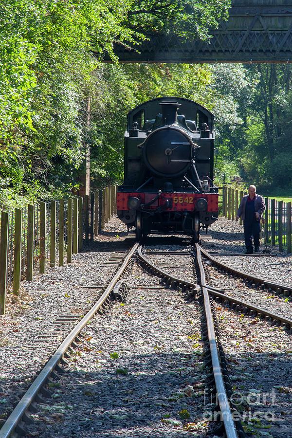 Steam Photograph - 5542 At Shenton Run Around by Steev Stamford