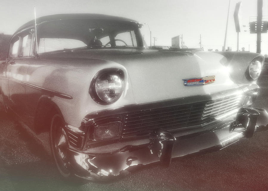 Auto Photograph - 56 Belair In Memphis by JAMART Photography