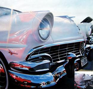 Oil Painting - 56 Ford by Counterparts original