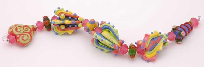 3d Cones Glass Art by Jennifer Ross