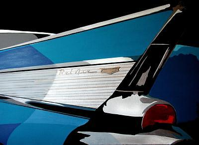 Automobile Painting - 57 Bel Air by Blackcat Studios