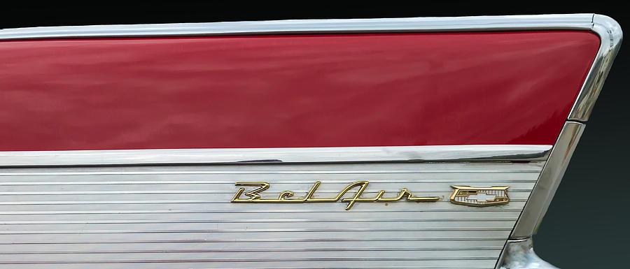 Car Photograph - 57 Chevy Bel Air by Mark Guinn